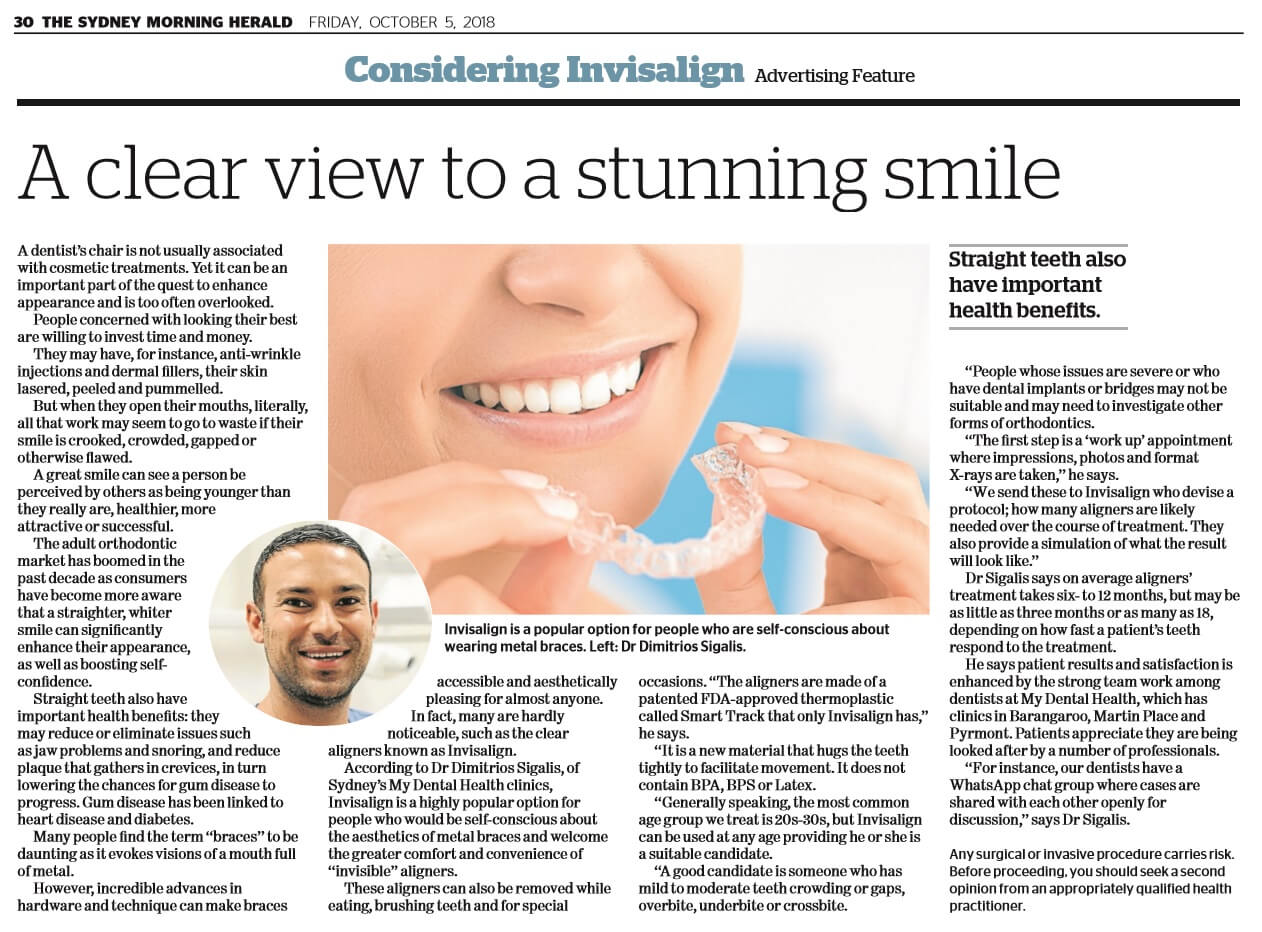 My Dental Health in the Sydney Morning Herald